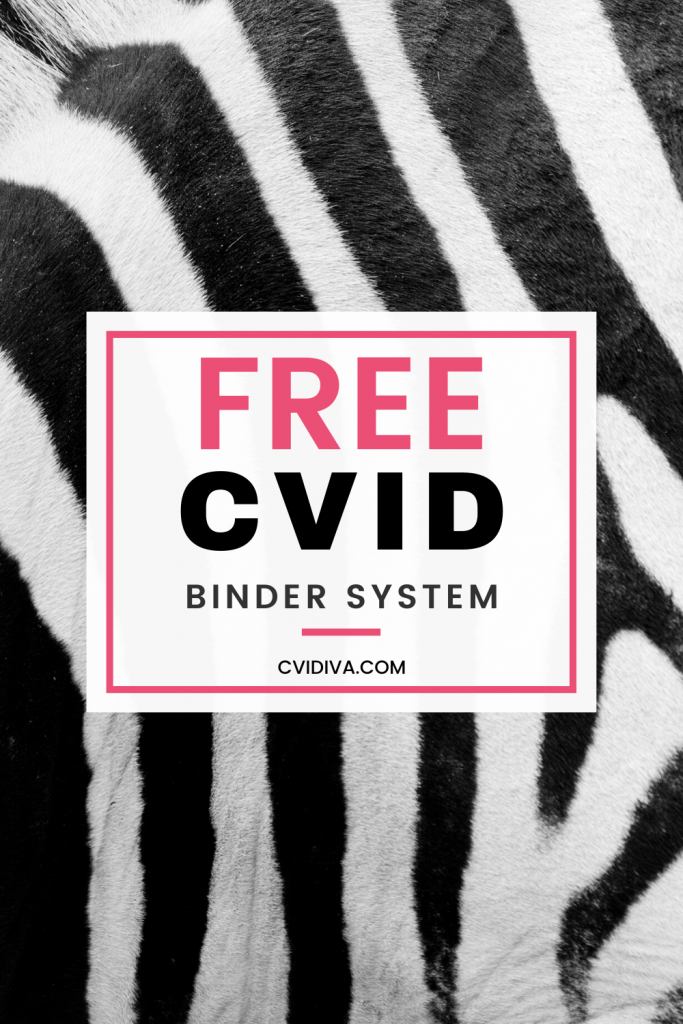 Organized your CVID medical information with the free CVID Binder System